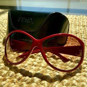 Giorgio Armani Red Sunglasses & FREE Fendi case